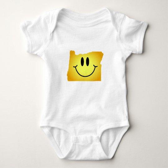 Oregon Smiley Face Baby Bodysuit