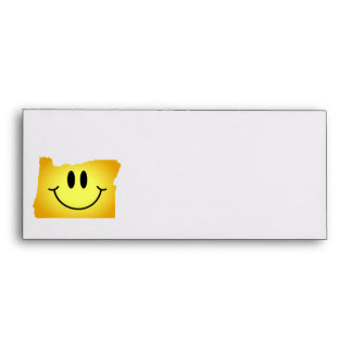Oregon Smiley Face Envelope