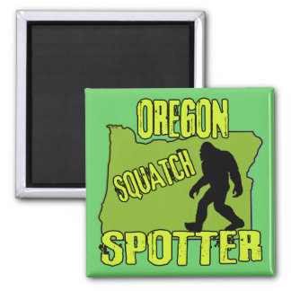Oregon Squatch Spotter 2 Inch Square Magnet