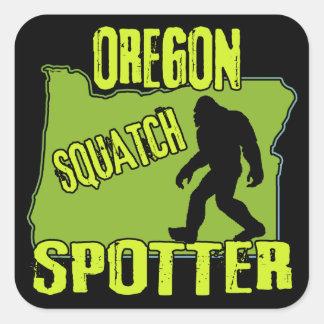 Oregon Squatch Spotter Square Sticker