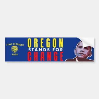 Oregon Stands for Change - Obama Bumper Sticker Car Bumper Sticker