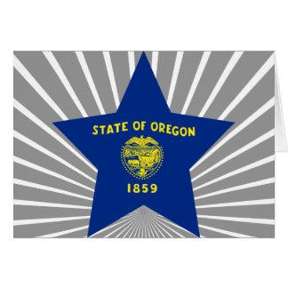 Oregon Star Greeting Card