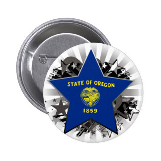 Oregon Star Pinback Button