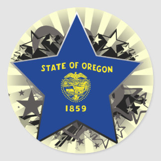 Oregon Star Sticker