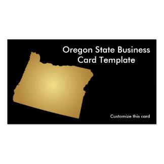 Oregon State Business Card Metallic Gold