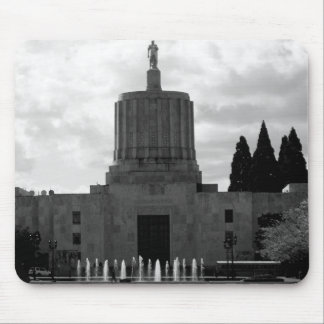 Oregon State Capital B&W Mouse Pad