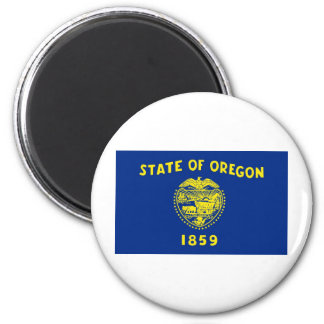 Oregon State Flag 2 Inch Round Magnet