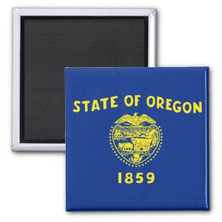 Oregon State Flag 2 Inch Square Magnet