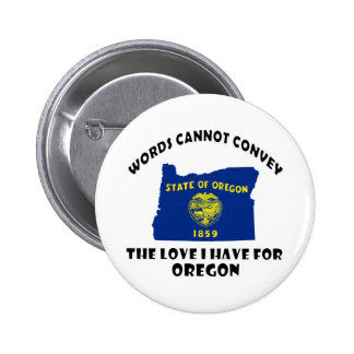 Oregon state flag and map designs pinback button