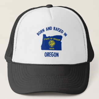 Oregon state flag and map designs trucker hat
