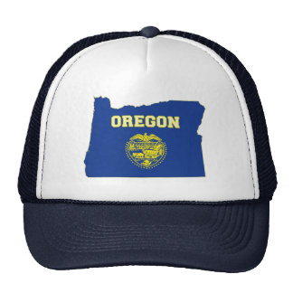 Oregon State Flag and Map Mesh Hats