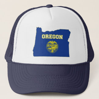 Oregon State Flag and Map Trucker Hat