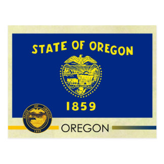 Oregon State Flag and Seal Postcard
