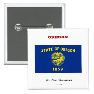 Oregon state flag and slogan button