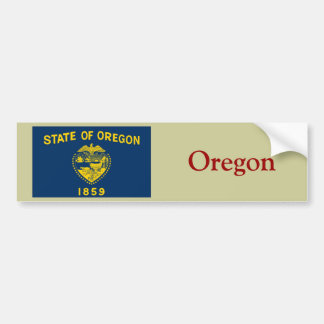 Oregon State Flag Car Bumper Sticker
