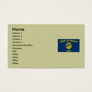 Oregon State Flag Business Card