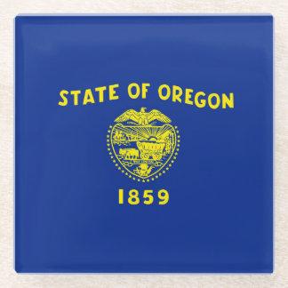 Oregon State Flag Design Decor Glass Coaster