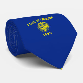 Oregon State Flag Design Neck Tie