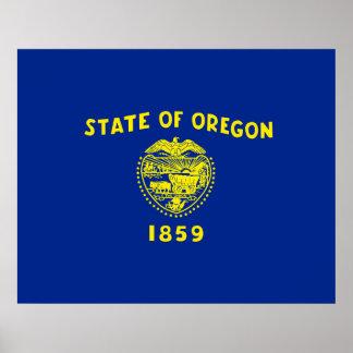 Oregon State Flag Design Poster