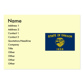 Oregon State Flag Large Business Cards (Pack Of 100)