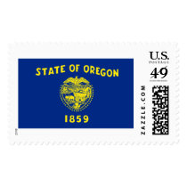 Oregon state flag postage