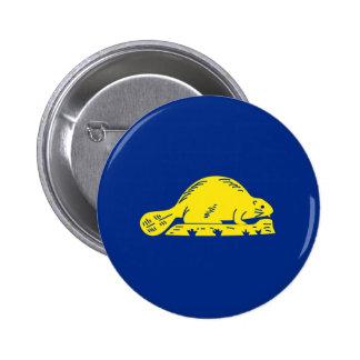 Oregon State Flag (reverse) Pinback Button