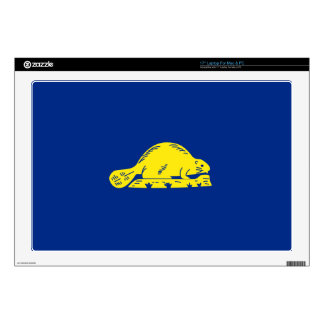 """Oregon State Flag (reverse) Decal For 17"""" Laptop"""