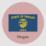 Oregon State Flag Stickers