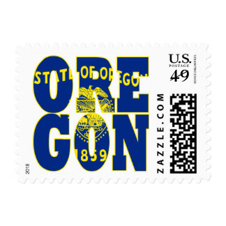 Oregon state flag text postage