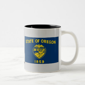 Oregon State Flag Two-Tone Coffee Mug