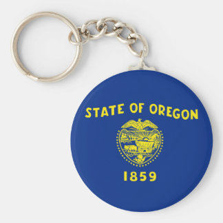 oregon state flag united america republic symbol keychain