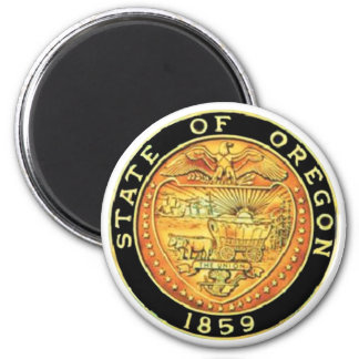 Oregon State Seal 2 Inch Round Magnet