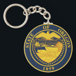 "Oregon State Seal Keychain<br><div class=""desc"">Oregon State Seal Keychain</div>"