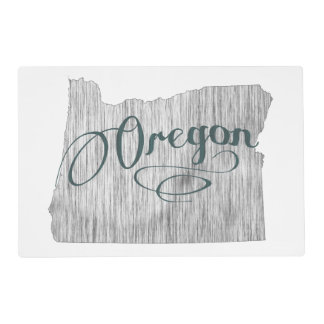 Oregon State Typography Placemat
