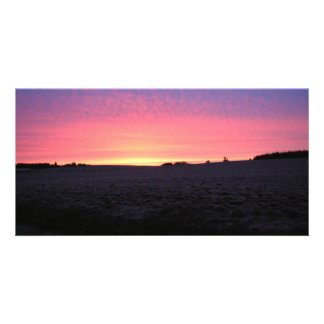 Oregon Sunrise Custom Photo Card