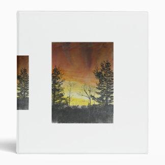 oregon sunset 3 ring binder