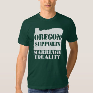 Oregon Supports Marriage Equality T-Shirt