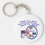 Oregon Tax Day Tea Party Protest Key Chain