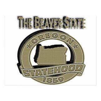 Oregon The Beaver State Statehood Postcard