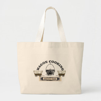 oregon trail cooking large tote bag