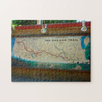 Oregon Trail Map. Jigsaw Puzzle