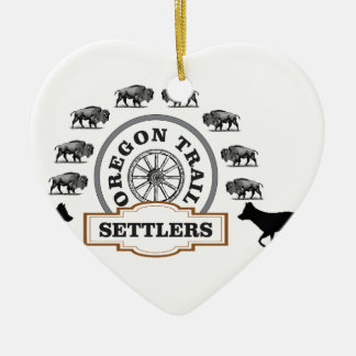 oregon trail settlers tough ceramic ornament
