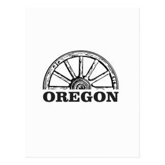 oregon trail simple wheel postcard