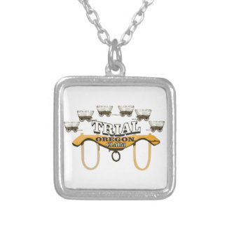 oregon trail trial art yeah silver plated necklace