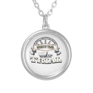 oregon trail trial silver plated necklace
