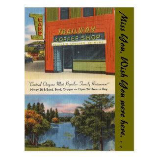 Oregon, Trailway Coffee Shop, Bend Postcard