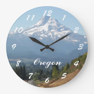Oregon Travel Photo Large Clock