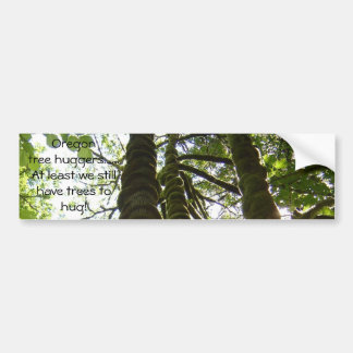 Oregon tree hugger bumper sticker