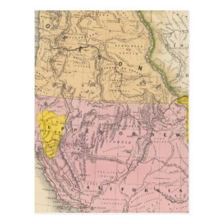 Oregon, Upper California and New Mexico Postcard