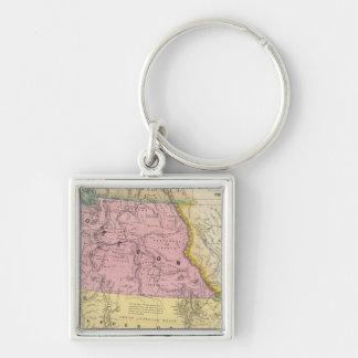 Oregon, Upper California & New Mexico Keychain